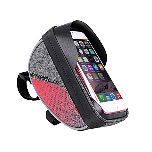 Corefyco Bike Bag, Bicycle Phone Mount Bags, Front Frame Bike Handlebar Bags with Waterproof Touch Screen Phone Case