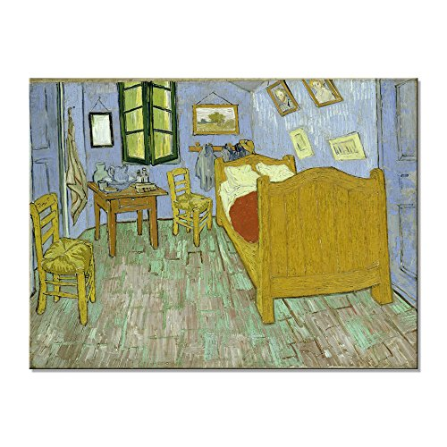 Wieco Art The Bedroom at Arles Classic Canvas Prints Wall Art of Van Gogh Famous Oil Paintings Reproduction for Bathroom Home Office Decorations Modern Stretched and Framed Abstract Pictures Artwork