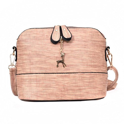 New Women Messenger Bags Vintage Small Shell Leather Handbag Casual Packet by VESNIBA