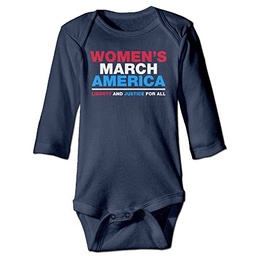 Womens March America Kids Long Sleeve Bodysuits
