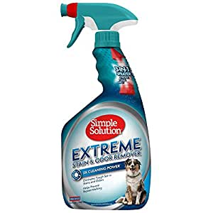 Simple Solution Pet Extreme Stain & Odor Remover, With New Multi Functional Sprayer, 32 OZ, USA Made (Packaging May Vary)