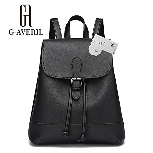 G-AVERIL GA1086-G - Bolso mochila para mujer gris gris negro