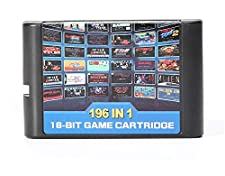 196 in 1 Multi Games Cards Cartridge 16 Bit for Sega Mega Drive MD for PAL and NTSC(shipping from china)