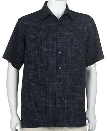 ron chereskin men 39 s short sleeve woven linen rayon shirt