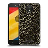 Official Cat Coquillette Berry Branches Black Gold Patterns 3 Hard Back Case for Motorola Moto G (3rd Gen)