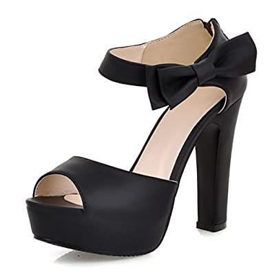 992ac909f06330 COOLCEPT Women Fashion Block High Heels Sandals Platform Ankle Strap Summer Heels  Shoes (3 B