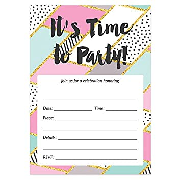 amazon co jp pastel geometric party invitations with envelopes