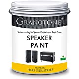 Granotone Speaker Paint Black 1 Quart Texture Coating for Speaker Cabinets, Road Cases, Metal & Furniture, Roller Application, Water-Based
