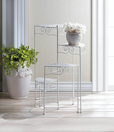 Summerfield terrace white 4-tier plant stand