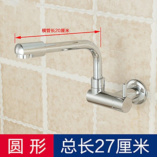 Lpophy Bathroom Sink Mixer Taps Faucet Bath Waterfall Cold and Hot Water Tap for Washroom Bathroom and Kitchen in-Wall redatable Single Cold Copper