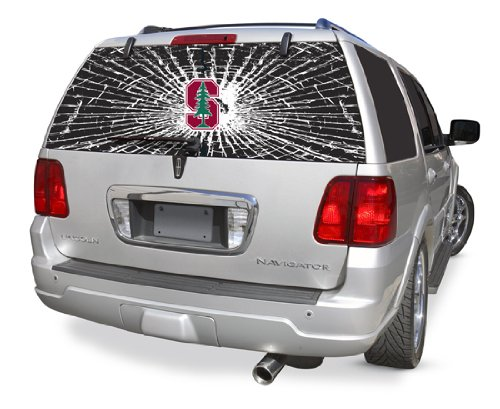 Stanford Cardinals Shattered Auto Rear Window Decal