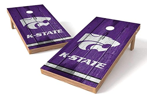 PROLINE NCAA College 2' x 4' Kansas State Wildcats Cornhole Board Set - Vintage