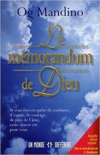 gratuitement le memorandum de dieu