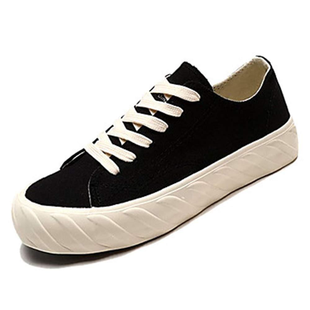 TTSHOES Per Donna Scarpe Di Corda Estate Comoda Sneakers Piatto Punta Tonda Bianco/Nero,Black,US7.5/EU38/UK5.5/CN38-