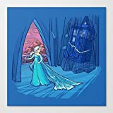 "Doctor Who Tardis and Disney's Frozen Elsa Mashup Small 8x8"" Art Print"