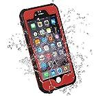 HESGI iPhone 6S PLUS Waterproof Case, IP-68 Waterproof Shockproof Dust Proof Snow Proof