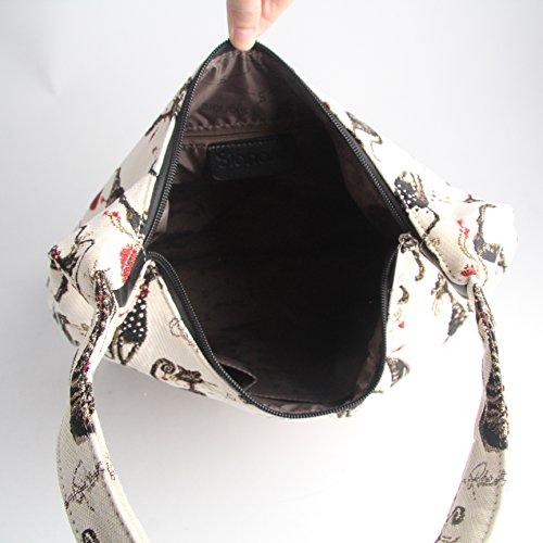 Borsa donna Signare alla moda a spalla borsa hobo Gatto atteggiament