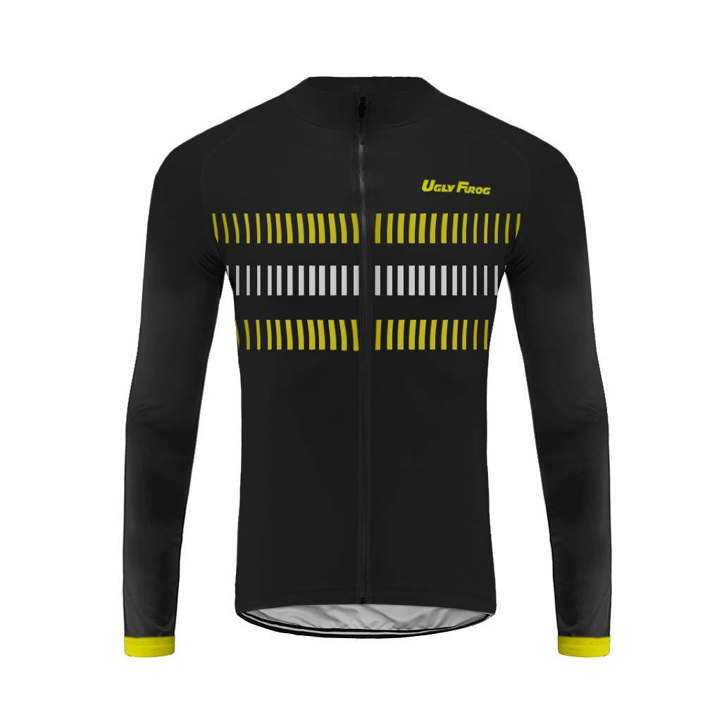 Uglyfrog Frühling/Herbst Männer Radfahren Kleidung Set Fahrrad Anzug Outdoor Langarmtrikot+ Bib Hose Atmungsaktiv Schnell Trocken (Trikots Wird separat verkauft)