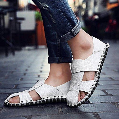 C B estivi Bianca ZHANGRONG outdoor Colore da Pantofole Colore dimensioni Scarpe A Sandali Bianca Sandali uomo UK7 D da interni EU40 CN41 Ac77fFa
