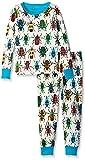 Hatley Little Boys' Jungle Beetles Pj Set, Cream, 2
