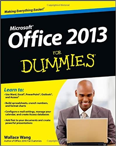 office 2013 for dummies wallace wang 9781118497159 amazoncom books amazoncom stills office