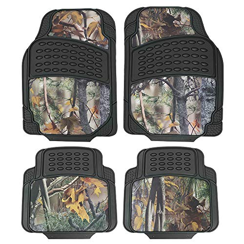 TanYoo Camouflage Car Floor Mats,Durable All Weather Protection, Rubber Heavy Duty Auto Mats Trimmable for Cars/Vans/Suvs (4 PCS)
