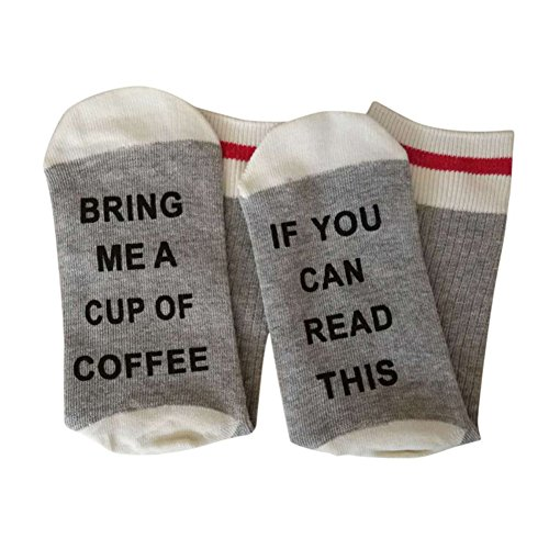 If You Can Read This Bring Me A Glass Of Wine Beer Coffee Socks for Women Mens Funny Cotton Socks
