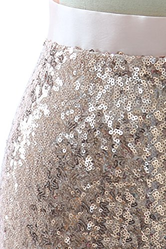 Maxi Skirt Bridesmaid Wedding Party Sequin Grau Women Mermaid Long Dress MACloth fn7aX