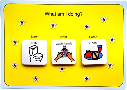Plastic Visual Asd Now Next And Later Board Picture Communication