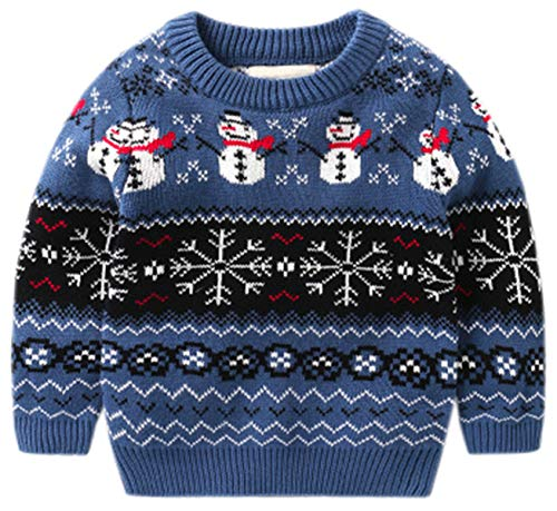 Ameyda Kids Boys Christmas Sweater Crewneck Knit Pullover Sweater