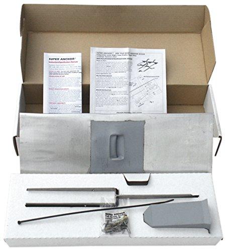 Steel Cotta Terra Roof (Super Anchor Safety 2820-T ARS Tile Roof Fall Arrest Anchor Kit, Terra Cotta, 14 Gauge)