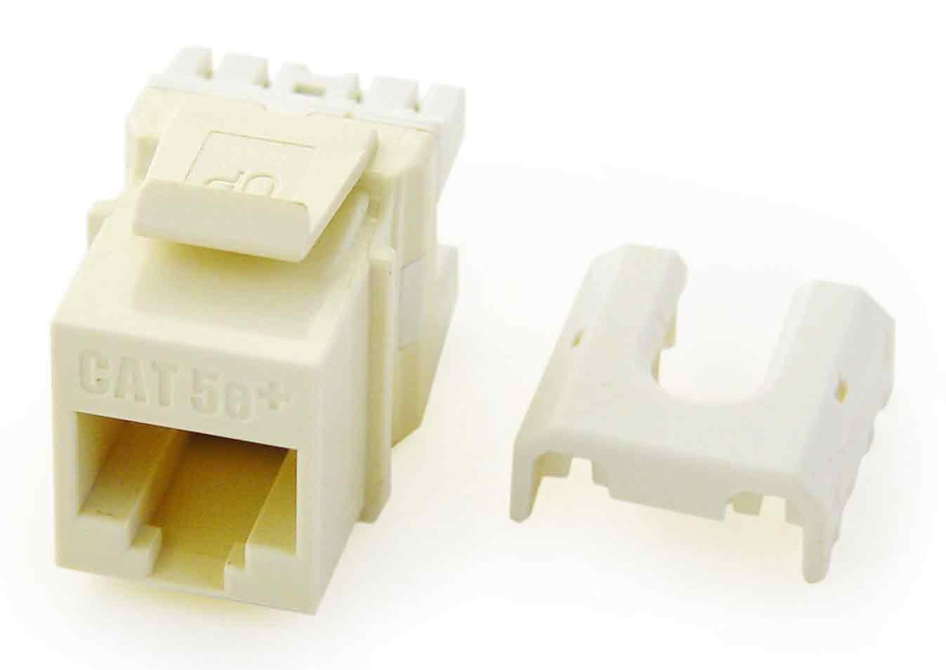 Legrand - On-Q WP3475LA50 RJ45 Cat5e QC Keystone Insert (50 pack), Light Almond