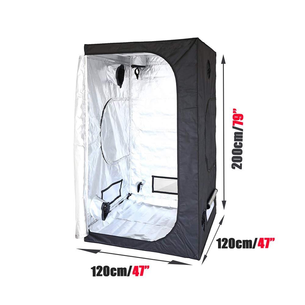 dicn 60x60x140cm Indoor Hydroponics Grow Tent Lightproof Temperature Control Planting Grow Tool