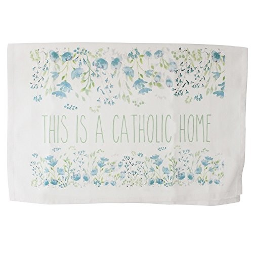 Message Brands This Is a Catholic Home Dish Towel by Message Brands