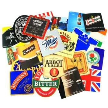 25 x Cardboard Beer Mats from England series 1 (pp)