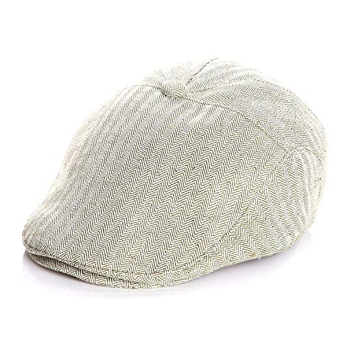 Baby Hat Cotton Linen Baby Boy Cap Beret Elastic Kids Hat Baby Accessories for 1-2 Years Green ()