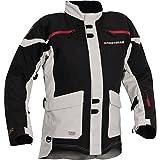 Firstgear TPG Rainier Men's Motorcycle Jacket (Black/Silver, Large)