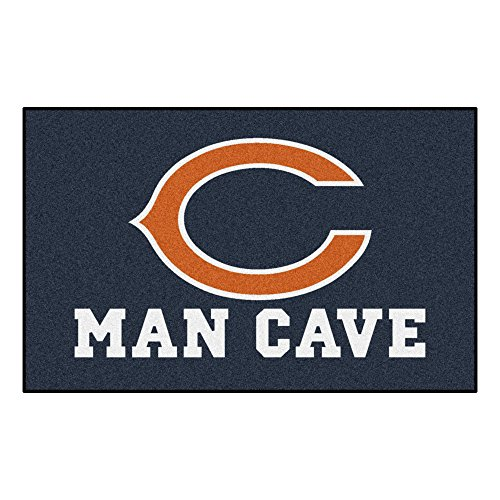 FANMATS 14282 NFL Chicago Bears Nylon Universal Man Cave UltiMat Rug