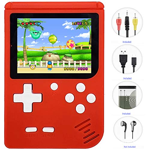 Haopapa Handheld Games Console for Kids, Retro FC Arcade Video Gaming System Built-in 400 Classic Old School Games 3.0…