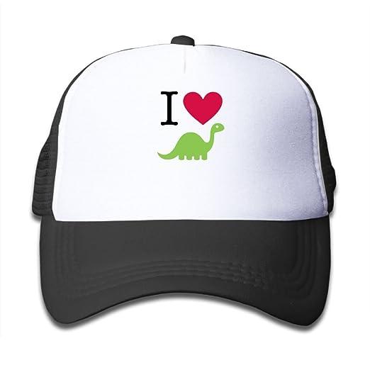 13f6c4996a0 Mesh Baseball Caps Sun Hats Kids Cap I Heart Dinosaur Adjustable Boys Girls