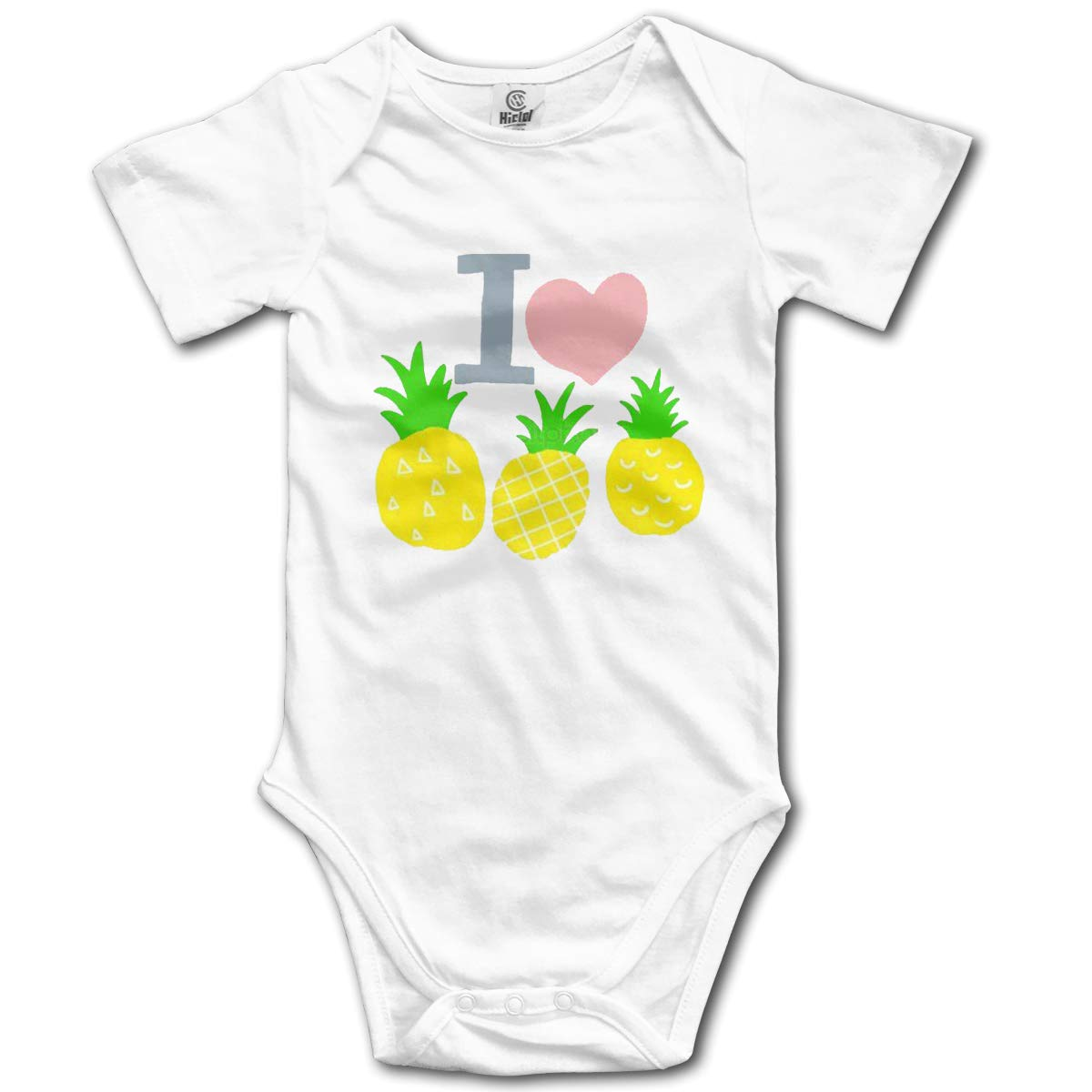 VANMASS Toddler I Love Pineapple Short Sleeve Bodysuit Clothes Baby Rompers