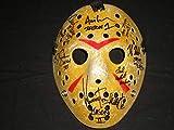 7 JASONS Signed Jason Voorhees Hockey Mask Friday the 13th Cast Kane Hodder + Dash Lehman White Graham Mears Morga Kirzinger