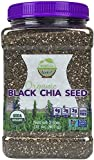 Wunder Basket Organic Black Chia Seeds, 2 LB Jar, w/Scoop (Pack of 1)