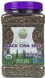 yogurt spread - Wunder Basket Organic Black Chia Seeds, 2 LB Jar, w/Scoop (Pack of 1)