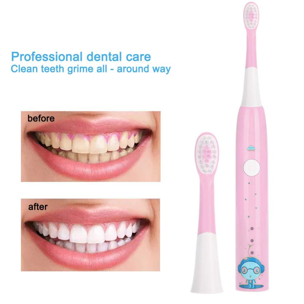 Electric Tooth Brush, Rechargeable USB Charge Teeth Cleaning Tool for Travel for Adults and Kids(Pink) by ZJchao (Image #3)