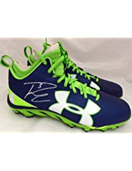 4b13d49c Russell Wilson Autographed Under Armour Cleats Shoes Seattle Seahawks RW  Holo #42140 - Autographed NFL