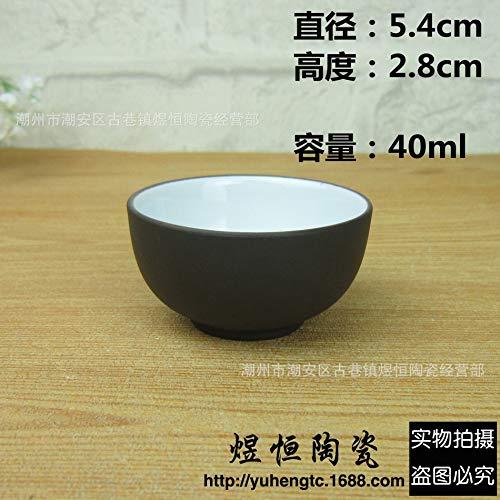4 tea cups medium red/black tea cup for teapot bowl Purple Clay cups 40ml