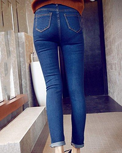 Pantalons Collant Taille Jeans Comme Crayon Haute Femme Leggings Slim Image Denim nB8RxwTYqp