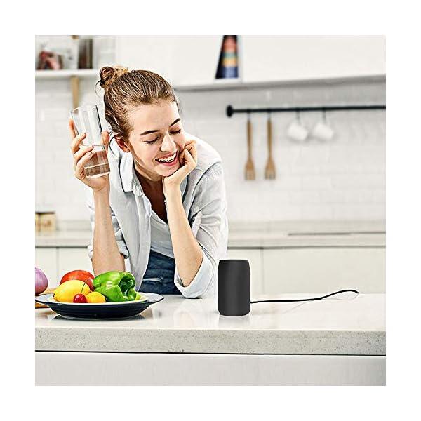 Enceinte Bluetooth Portable, Mini Haut-Parleur Bluetooth Enceinte Portable sans Fil, avec Universel Support, Compatible Android iOS et Autres Appareil, Noir 7