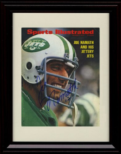 Framed Joe Namath Sports Illustrated Autograph Replica Print - 10/9/1973